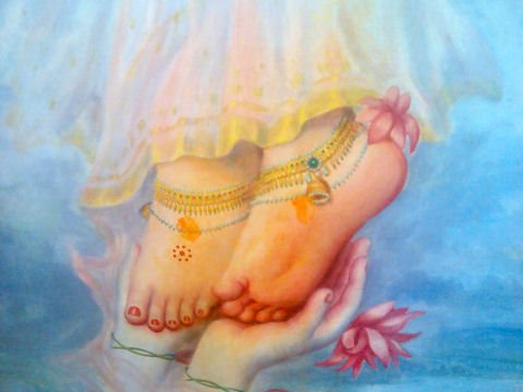 The Louts Feet of Śrīmatī Rādhārāṇī