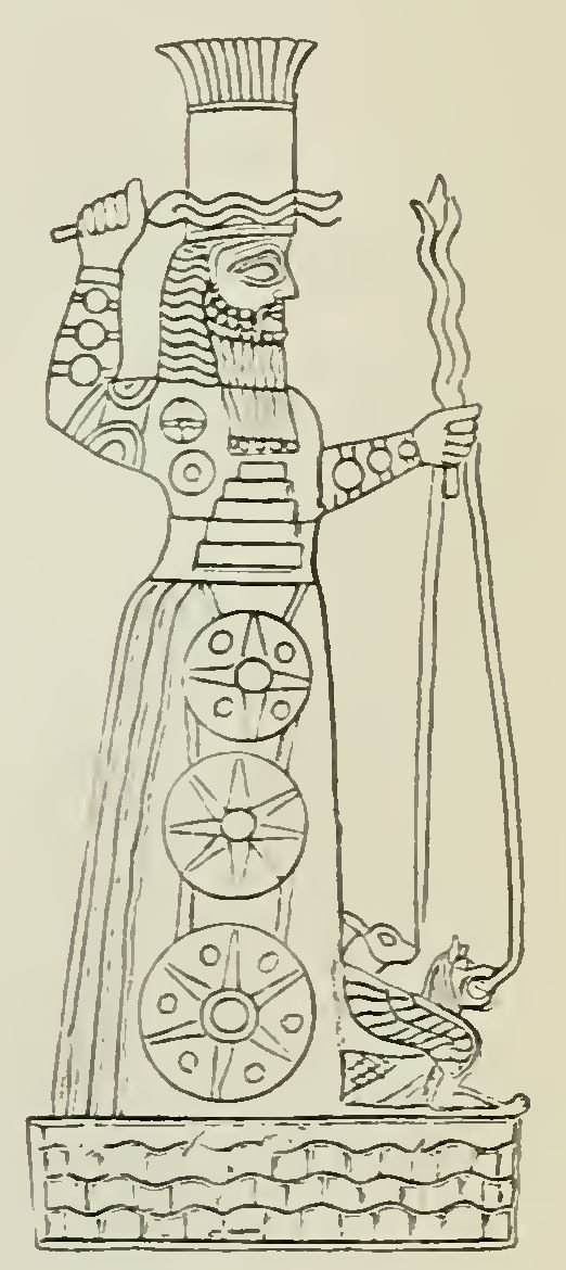 Fig. 3. Adad (or Ramman) the God of Storms,Thunder, and Lightning