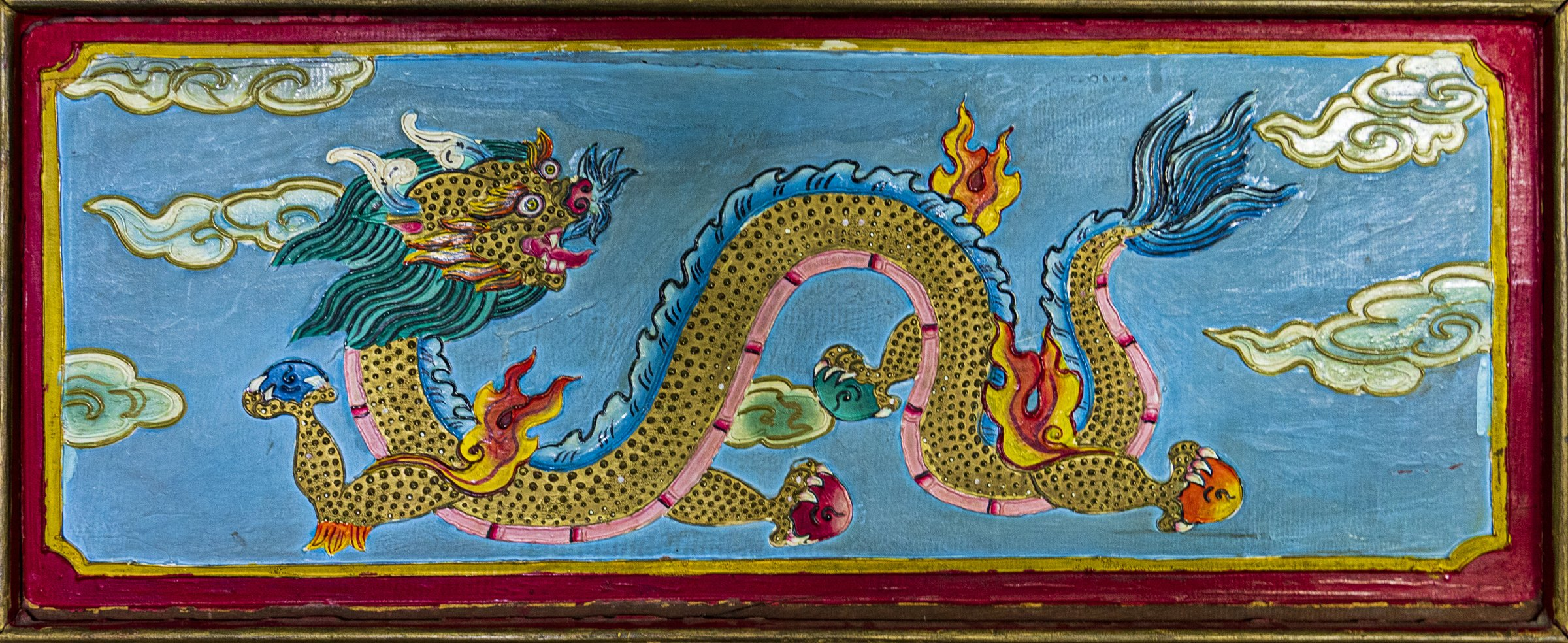 Colorful wood painting 2 (dragon)